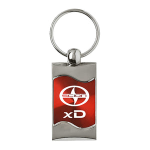 Scion xD Keychain & Keyring - Red Wave