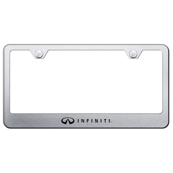 Infiniti Brushed License Plate Frame