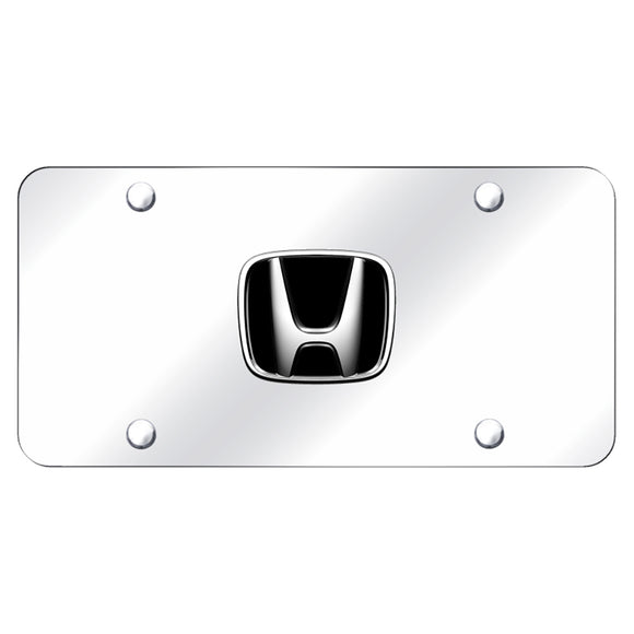 Honda Logo Chrome on Chrome Plate
