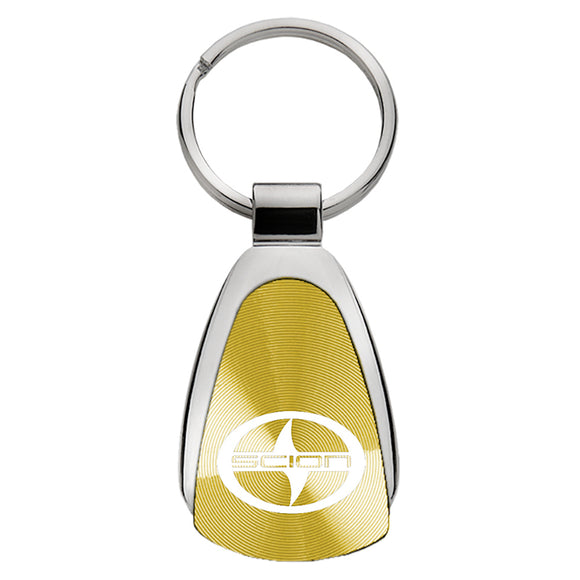 Scion Keychain & Keyring - Gold Teardrop