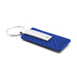 Ford Keychain & Keyring - Blue Carbon Fiber Texture Leather