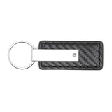 Ford Logo Keychain & Keyring - Carbon Fiber Texture Leather