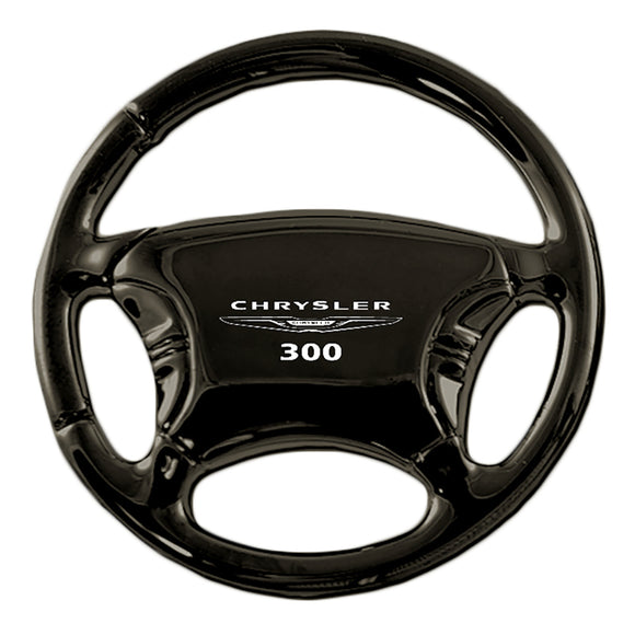 Chrysler 300 Keychain & Keyring - Black Steering Wheel