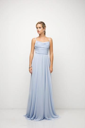 Chiffon Empire Waist Long Bridesmaid Dress Plus Size