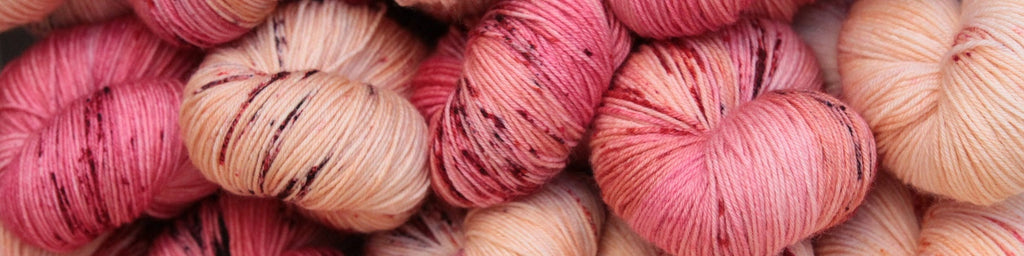 Beautiful pink merino cotton yarns from France