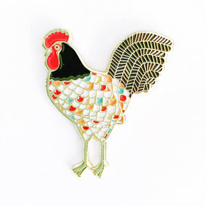 Gingiber Pins-Notions-Faire-Rooster-The Sated Sheep