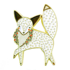 Gingiber Pins-Notions-Faire-Merriment Arctic Fox-The Sated Sheep