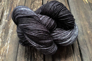 Bonnie Superfine Micron 2-Ply-Yarn-Dream in Color-Black Pearl-The Sated Sheep