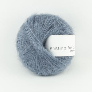 KFO Soft Silk Mohair Lace-Yarn-Knitting for Olive-Dusty Dove Blue-The Sated Sheep
