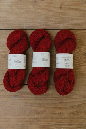 Le Gros Lambswool-Yarn-Biches et Buches-Medium Red-The Sated Sheep