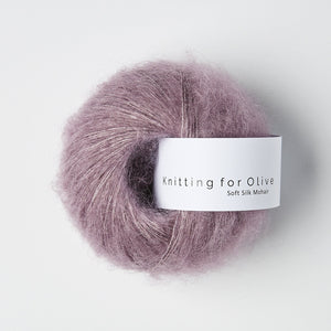 KFO Soft Silk Mohair Lace-Yarn-Knitting for Olive-Artichoke Purple-The Sated Sheep