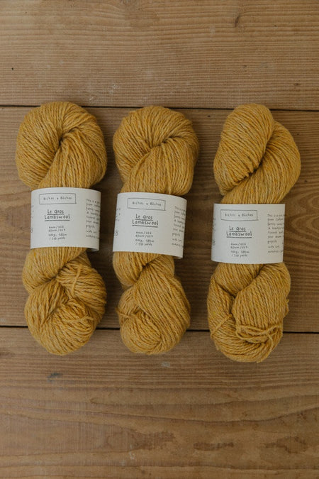 Le Gros Lambswool-Yarn-Biches et Buches-Light Yellow-The Sated Sheep