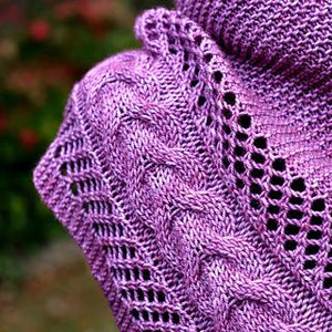 Beginning Cables and Lace with Carrie! The Anisah Shawl-class-sated sheep-The Sated Sheep