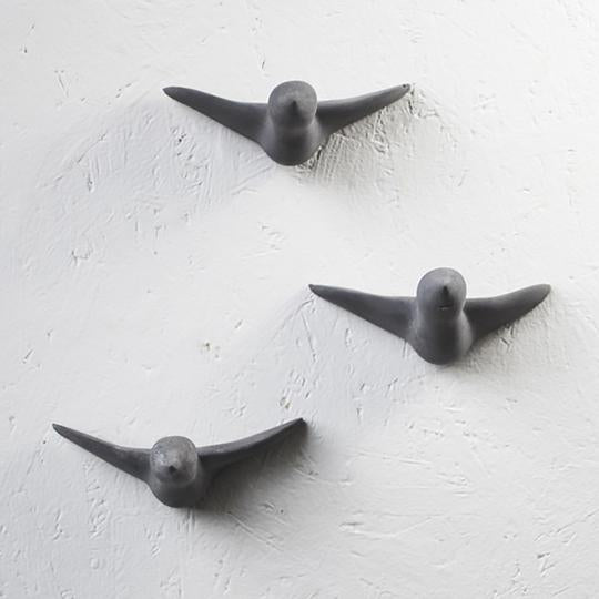 Concrete Bird Wall Hooks-Notions-Ameico-Large-Grey-The Sated Sheep