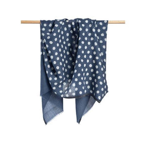 Blue Maya Dot Scarf-Notions-Bloom&Give-The Sated Sheep