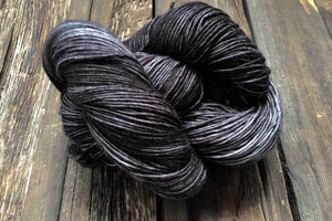 Butterfly BFL-Yarn-Dream in Color-Black Pearl-The Sated Sheep