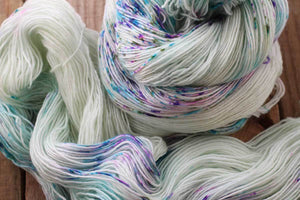 Butterfly BFL-Yarn-Dream in Color-Blanchefleur-The Sated Sheep