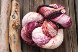 Butterfly BFL-Yarn-Dream in Color-Eaten the Plums-The Sated Sheep