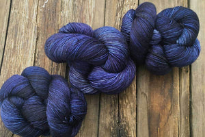 Butterfly BFL-Yarn-Dream in Color-Indigo-The Sated Sheep