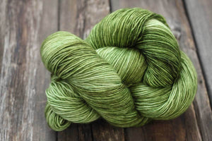 Butterfly BFL-Yarn-Dream in Color-Shiny Moss-The Sated Sheep