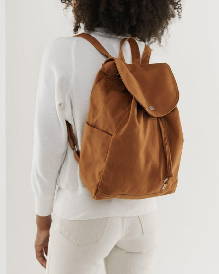 Canvas Drawstring Backpack-Bags-Baggu-Nutmeg-The Sated Sheep