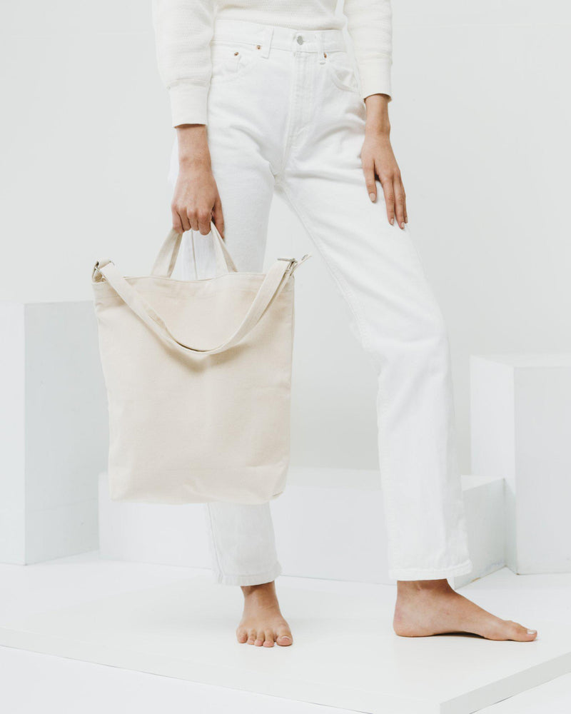 Canvas Duck Bag Natural-Bags-Baggu-The Sated Sheep