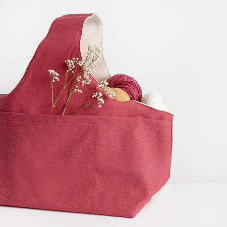 Canvas Project Bag-Bags-nonohana-Red-The Sated Sheep