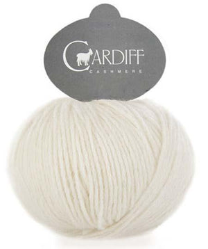 Cardiff Cashmere Classic-Yarn-Trendsetter-501 Ecru-The Sated Sheep