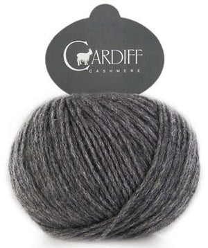Cardiff Cashmere Classic-Yarn-Trendsetter-519 Charcoal-The Sated Sheep