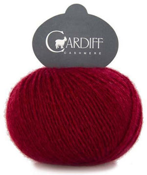 Cardiff Cashmere Classic-Yarn-Trendsetter-567 Red Tweed-The Sated Sheep