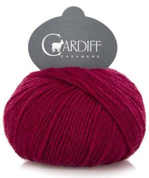 Cardiff Cashmere Classic-Yarn-Trendsetter-578 Raspberry-The Sated Sheep