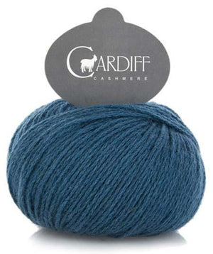 Cardiff Cashmere Classic-Yarn-Trendsetter-590 Teal-The Sated Sheep