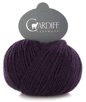 Cardiff Cashmere Classic-Yarn-Trendsetter-601 Eggplant-The Sated Sheep