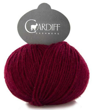 Cardiff Cashmere Classic-Yarn-Trendsetter-628 Cranberry-The Sated Sheep
