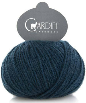 Cardiff Cashmere Classic-Yarn-Trendsetter-649 Dk Teal-The Sated Sheep