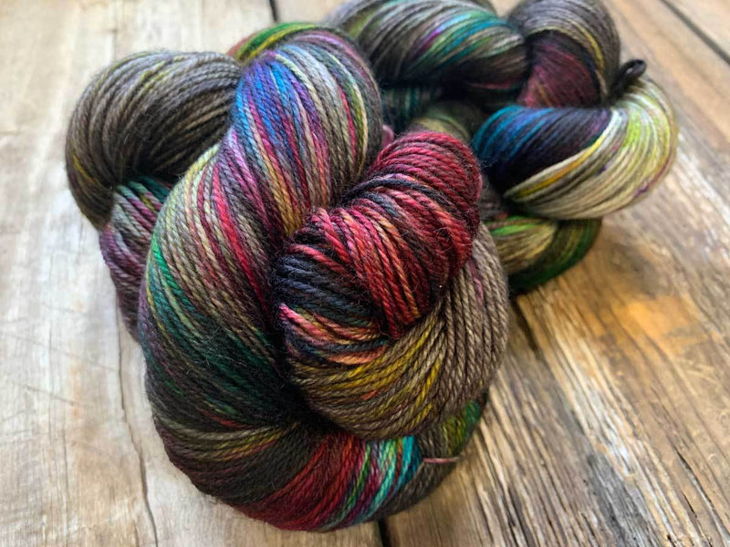 Classy Worsted-Yarn-Dream in Color-Charcoal Prism-The Sated Sheep