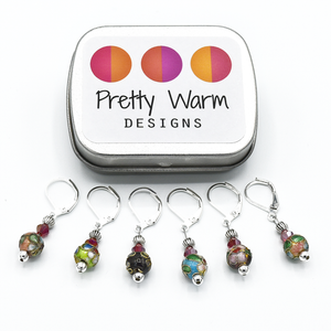 Cloisonne Locking Stitch Markers-Notions-Pretty Warm Designs-The Sated Sheep