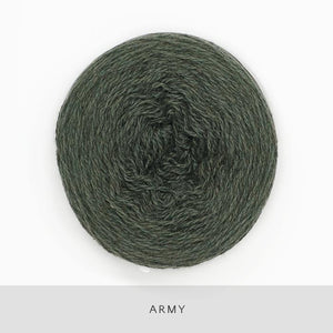 Coast Fingering-Yarn-Holst Garn-Army-The Sated Sheep