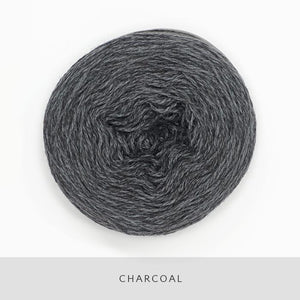 Coast Fingering-Yarn-Holst Garn-Charcoal-The Sated Sheep
