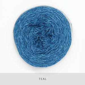 Coast Fingering-Yarn-Holst Garn-Teal-The Sated Sheep
