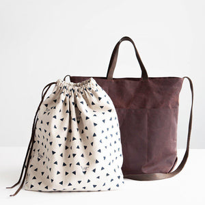 Crafter's Tote-Bags-nonohana-Conker Oilskin-The Sated Sheep