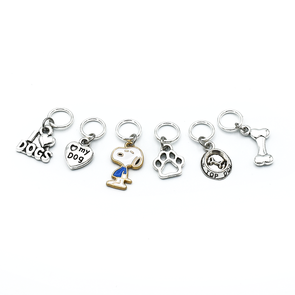 Dog Love Stitch Markers-Notions-Pretty Warm Designs-The Sated Sheep