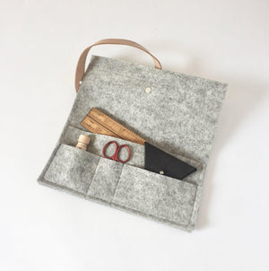 Felted Uta Notions Clutch-Notions-Brooklyn Haberdashery-The Sated Sheep