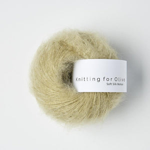 KFO Soft Silk Mohair Lace-Yarn-Knitting for Olive-Fennel-The Sated Sheep