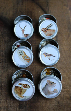 Forest Friends Mini Stitch Marker Tins-Notions-NNK Press-The Sated Sheep
