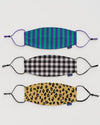 Reusable Masks-Notions-Baggu-Ear Loop-Gingham-The Sated Sheep