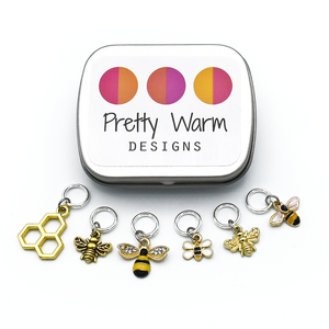 Honey Bee Stitch Markers-Notions-Pretty Warm Designs-The Sated Sheep