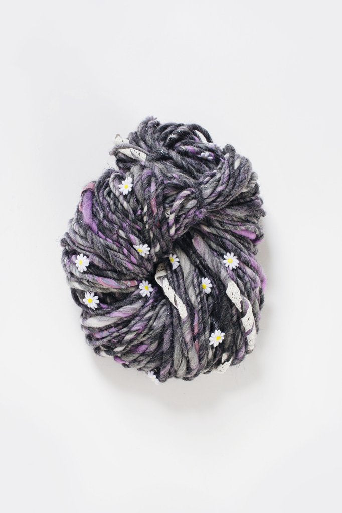Daisy Chain-Yarn-Knit Collage-Hyacinth Purple-The Sated Sheep