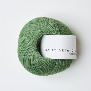 KFO Cotton Merino-Yarn-Knitting for Olive-Clover Green-The Sated Sheep