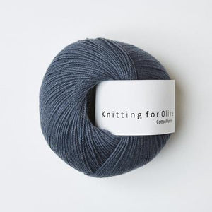 KFO Cotton Merino-Yarn-Knitting for Olive-Dusty Blue Whale-The Sated Sheep